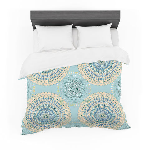 "Julia Grifol ""Sweet Time"" Blue Pastel Geometric Pattern Vector Digital Featherweight Duvet Cover"