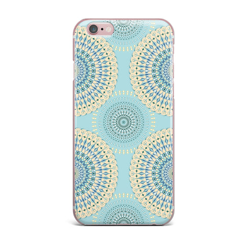 "Julia Grifol ""Sweet Time"" Blue Pastel Geometric Pattern Vector Digital iPhone Case"