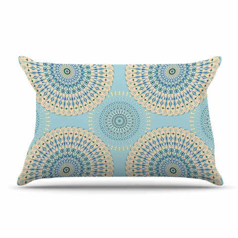 "Julia Grifol ""Sweet Time"" Blue Pastel Geometric Pattern Vector Digital Pillow Sham"
