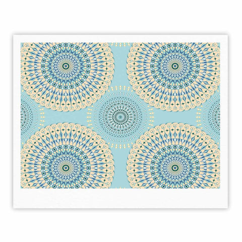 "Julia Grifol ""Sweet Time"" Blue Pastel Geometric Pattern Vector Digital Fine Art Gallery Print"