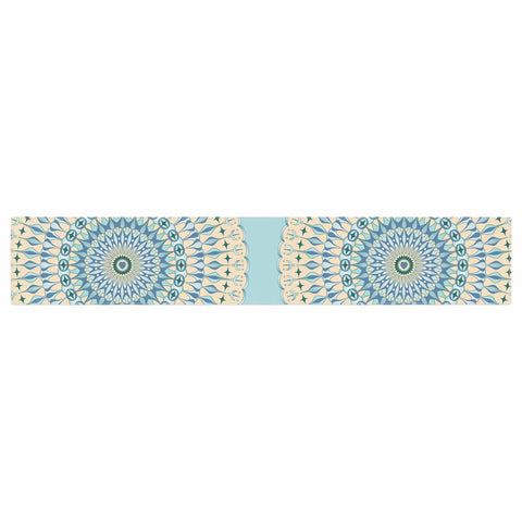 "Julia Grifol ""Sweet Time"" Blue Pastel Geometric Pattern Vector Digital Table Runner"