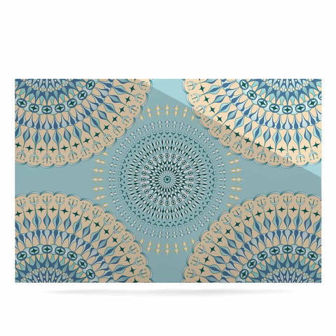 "Julia Grifol ""Sweet Time"" Blue Pastel Geometric Pattern Vector Digital Luxe Rectangle Panel"