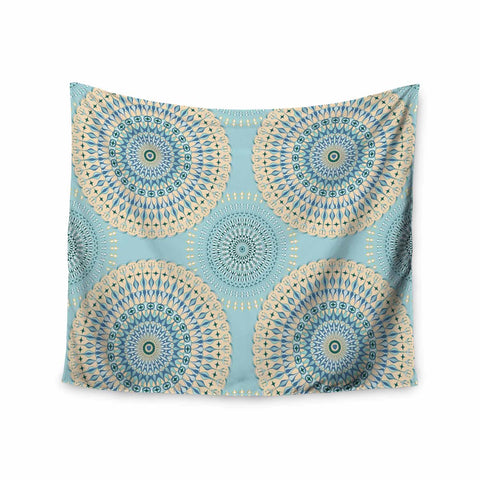 "Julia Grifol ""Sweet Time"" Blue Pastel Geometric Pattern Vector Digital Wall Tapestry"