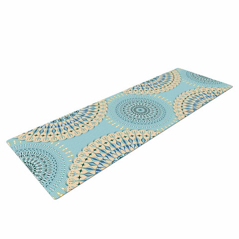 "Julia Grifol ""Sweet Time"" Blue Pastel Geometric Pattern Vector Digital Yoga Mat"