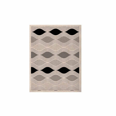 "Julia Grifol ""Waves In Gray"" White Gray Geometric Pattern Digital Vector KESS Naturals Canvas (Frame not Included)"