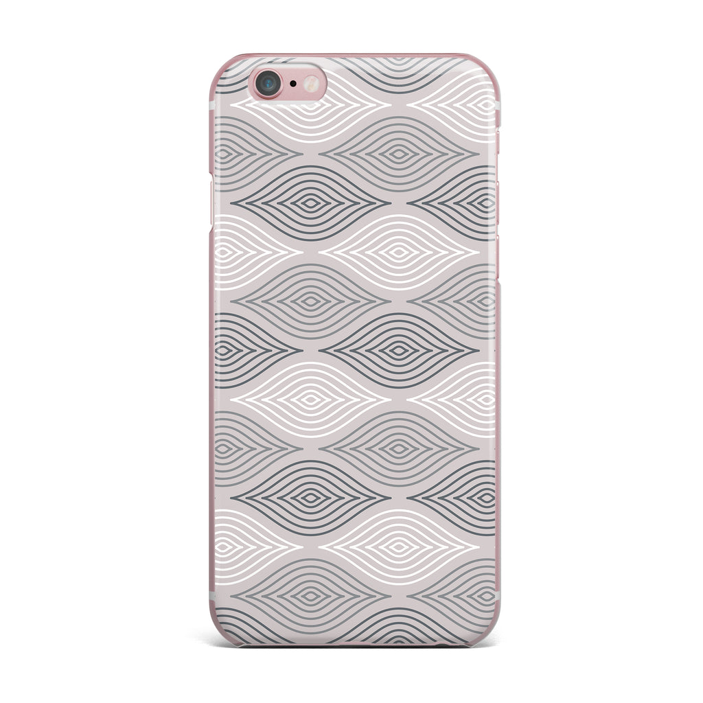 "Julia Grifol ""Peaceful Time"" Gray White Geometric Pattern Vector Digital iPhone Case"