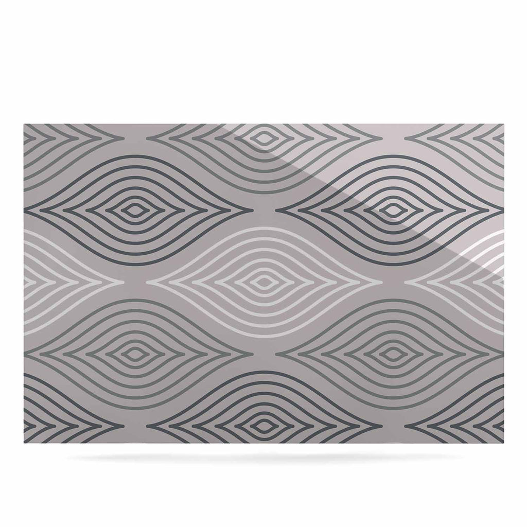 "Julia Grifol ""Peaceful Time"" Gray White Geometric Pattern Vector Digital Luxe Rectangle Panel"