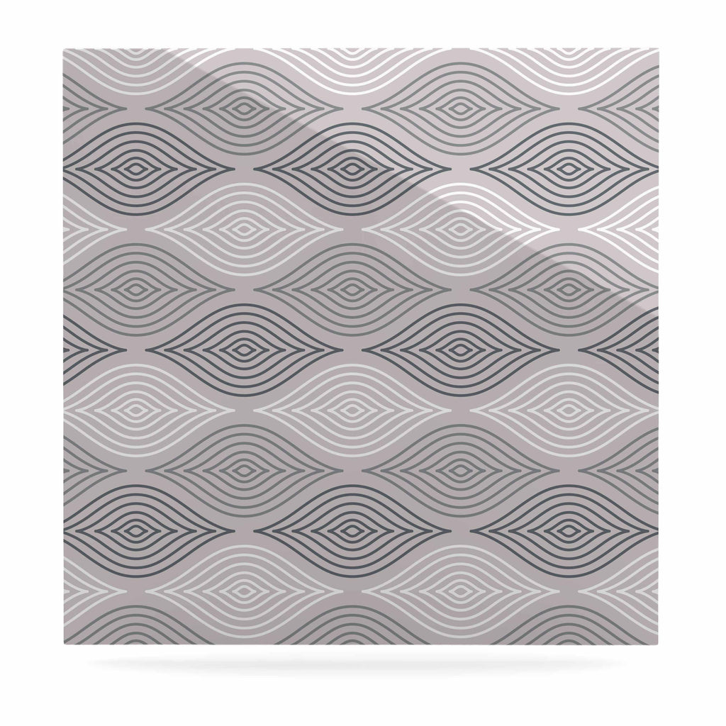 "Julia Grifol ""Peaceful Time"" Gray White Geometric Pattern Vector Digital Luxe Square Panel"
