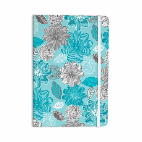 "Julia Grifol ""Lovely Blue Flowers"" Blue Gray Floral Pattern Vector Digital Everything Notebook"