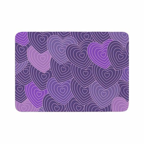 "Julia Grifol ""Violet Crazy Love"" Purple Pattern Geometric Vector Digital Memory Foam Bath Mat"