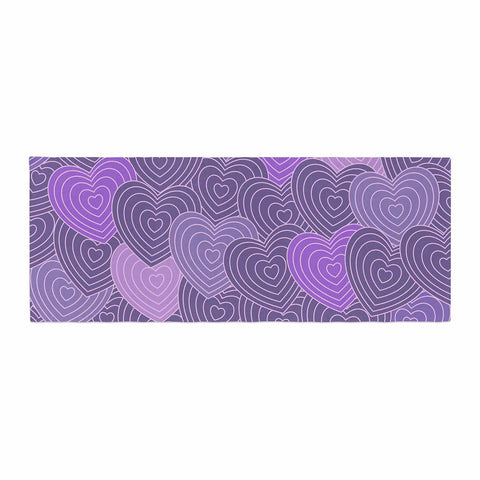 "Julia Grifol ""Violet Crazy Love"" Purple Pattern Geometric Vector Digital Bed Runner"