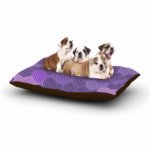 "Julia Grifol ""Violet Crazy Love"" Purple Pattern Geometric Vector Digital Dog Bed"