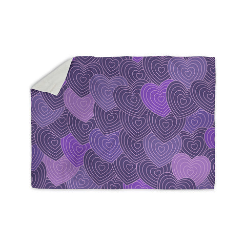 "Julia Grifol ""Violet Crazy Love"" Purple Pattern Geometric Vector Digital Sherpa Blanket"