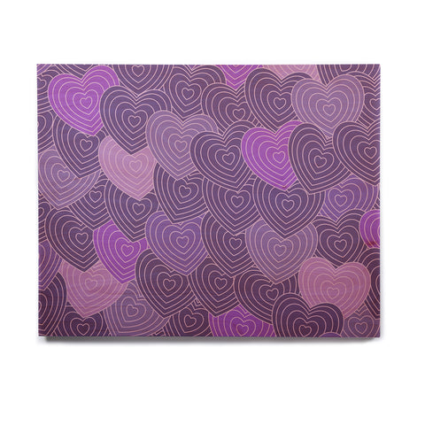 "Julia Grifol ""Violet Crazy Love"" Purple Pattern Geometric Vector Digital Birchwood Wall Art"