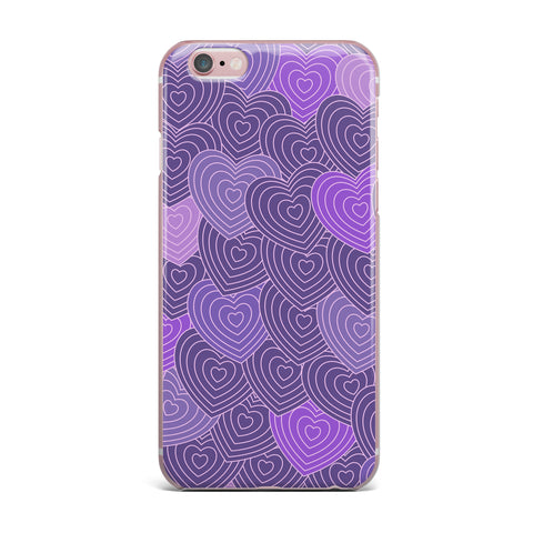"Julia Grifol ""Violet Crazy Love"" Purple Pattern Geometric Vector Digital iPhone Case"