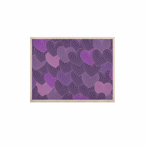 "Julia Grifol ""Violet Crazy Love"" Purple Pattern Geometric Vector Digital KESS Naturals Canvas (Frame not Included)"