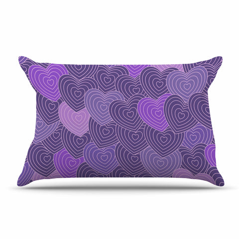 "Julia Grifol ""Violet Crazy Love"" Purple Pattern Geometric Vector Digital Pillow Sham"