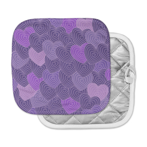 "Julia Grifol ""Violet Crazy Love"" Purple Pattern Geometric Vector Digital Pot Holder"
