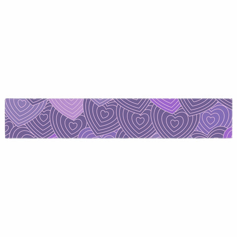 "Julia Grifol ""Violet Crazy Love"" Purple Pattern Geometric Vector Digital Table Runner"