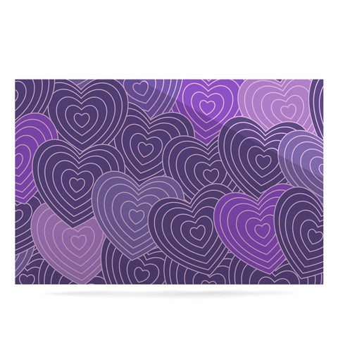 "Julia Grifol ""Violet Crazy Love"" Purple Pattern Geometric Vector Digital Luxe Rectangle Panel"