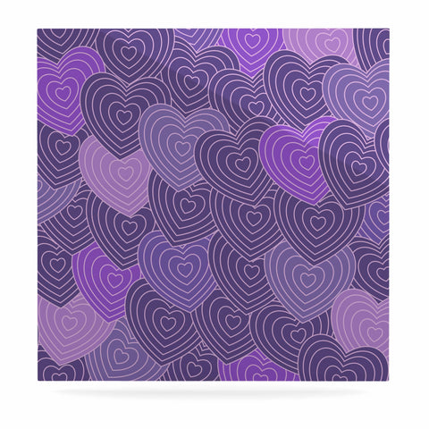 "Julia Grifol ""Violet Crazy Love"" Purple Pattern Geometric Vector Digital Luxe Square Panel"