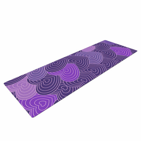 "Julia Grifol ""Violet Crazy Love"" Purple Pattern Geometric Vector Digital Yoga Mat"