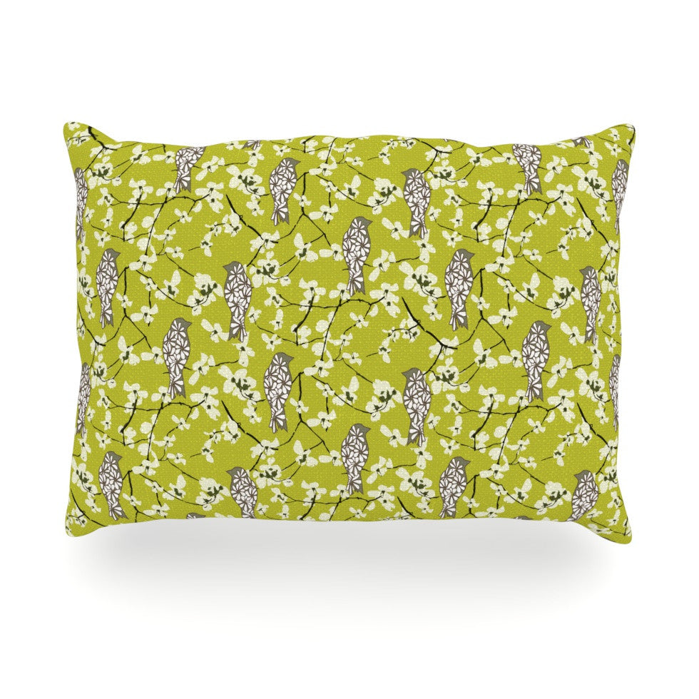 "Julie Hamilton ""Blossom Bird"" Oblong Pillow - KESS InHouse"