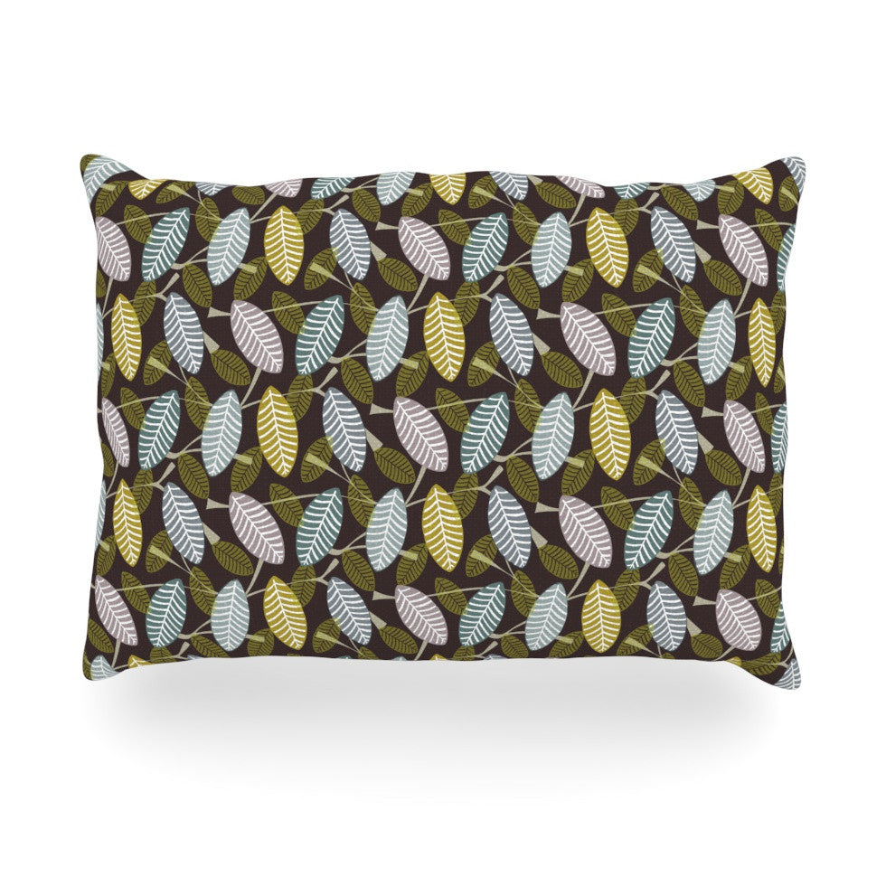 "Julie Hamilton ""Moss Canopy"" Oblong Pillow - KESS InHouse"