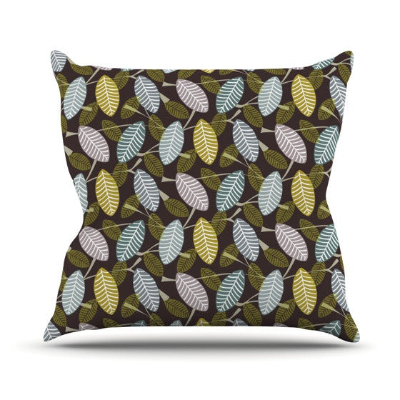 "Julie Hamilton ""Moss Canopy"" Outdoor Throw Pillow - KESS InHouse  - 1"
