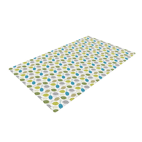 "Julie Hamilton ""Tangled Teal""  Woven Area Rug - Outlet Item"