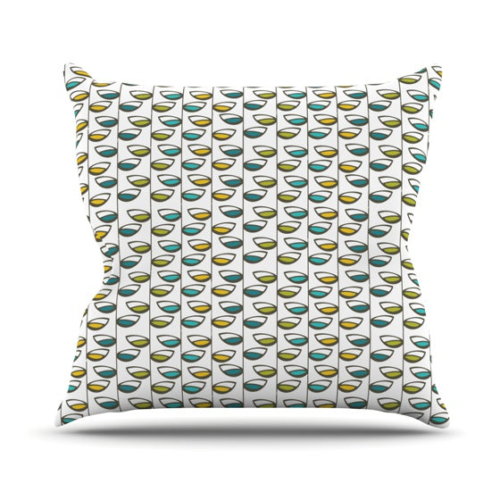 "Julie Hamilton ""Spring Stem"" Throw Pillow - KESS InHouse  - 1"
