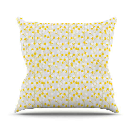 "Julie Hamilton ""Lemon Drop"" Yellow Gray Throw Pillow - KESS InHouse  - 1"