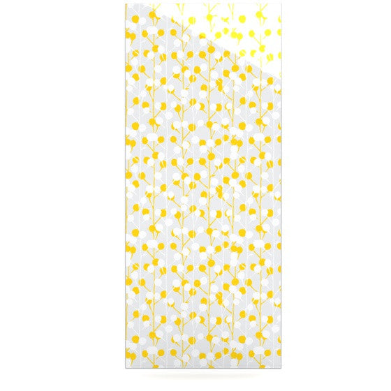 "Julie Hamilton ""Lemon Drop"" Yellow Gray Luxe Rectangle Panel - KESS InHouse  - 1"