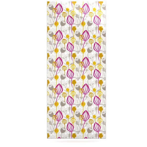 "Julie Hamilton ""Mulberry"" Pink Yellow Luxe Rectangle Panel - KESS InHouse  - 1"