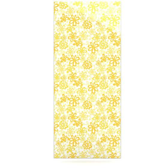 "Julie Hamilton ""Paper Daisy"" Yellow Luxe Rectangle Panel - KESS InHouse  - 1"