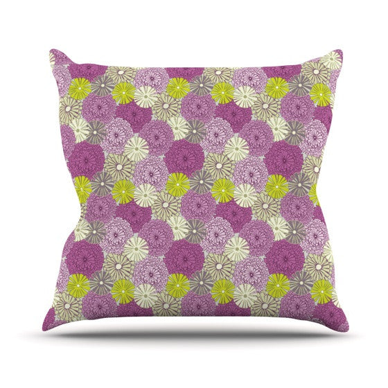 "Julie Hamilton ""Rhapsody"" Purple Pink Outdoor Throw Pillow - KESS InHouse  - 1"