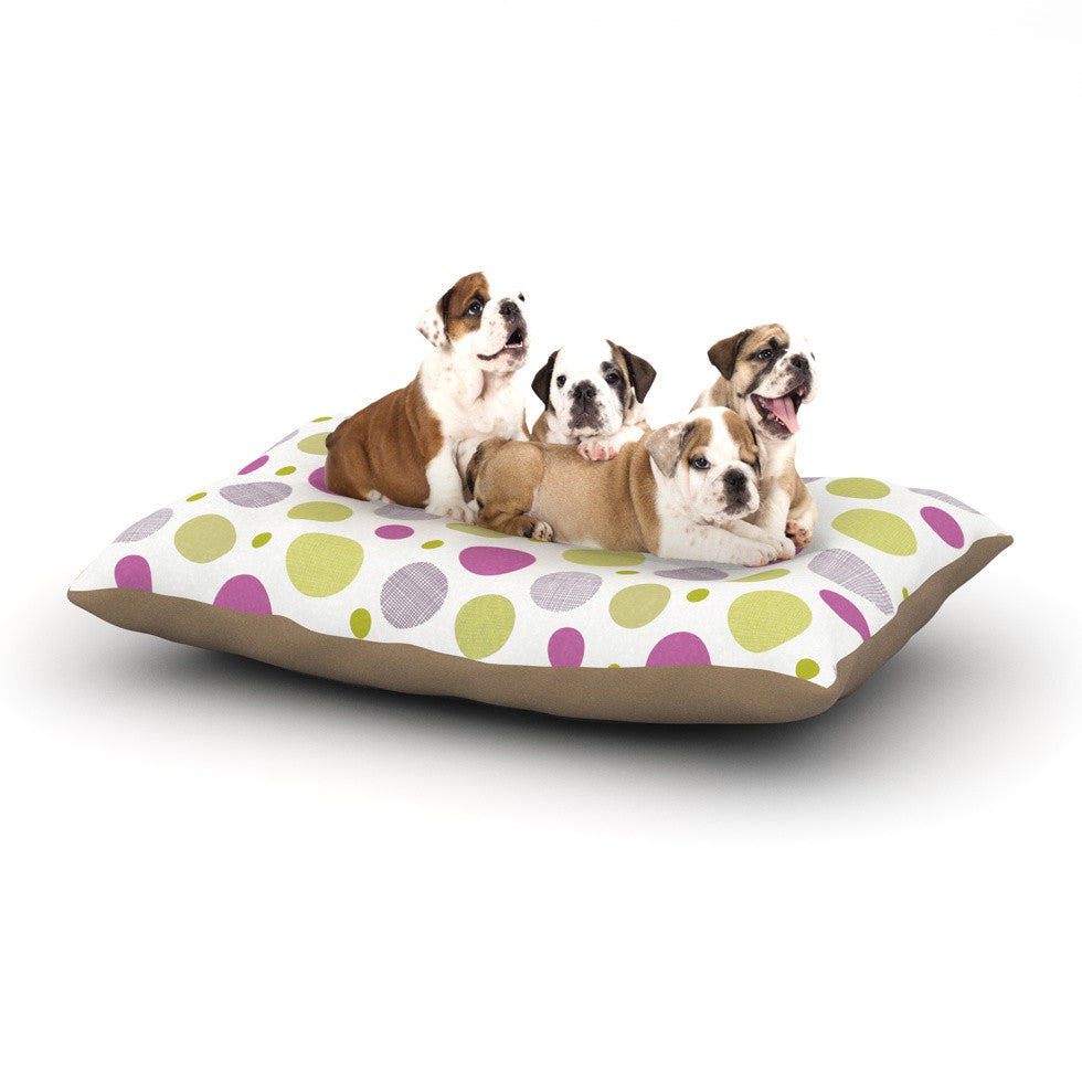 "Julie Hamilton ""Rhapsody Dot"" Pink Yellow Dog Bed - KESS InHouse  - 1"
