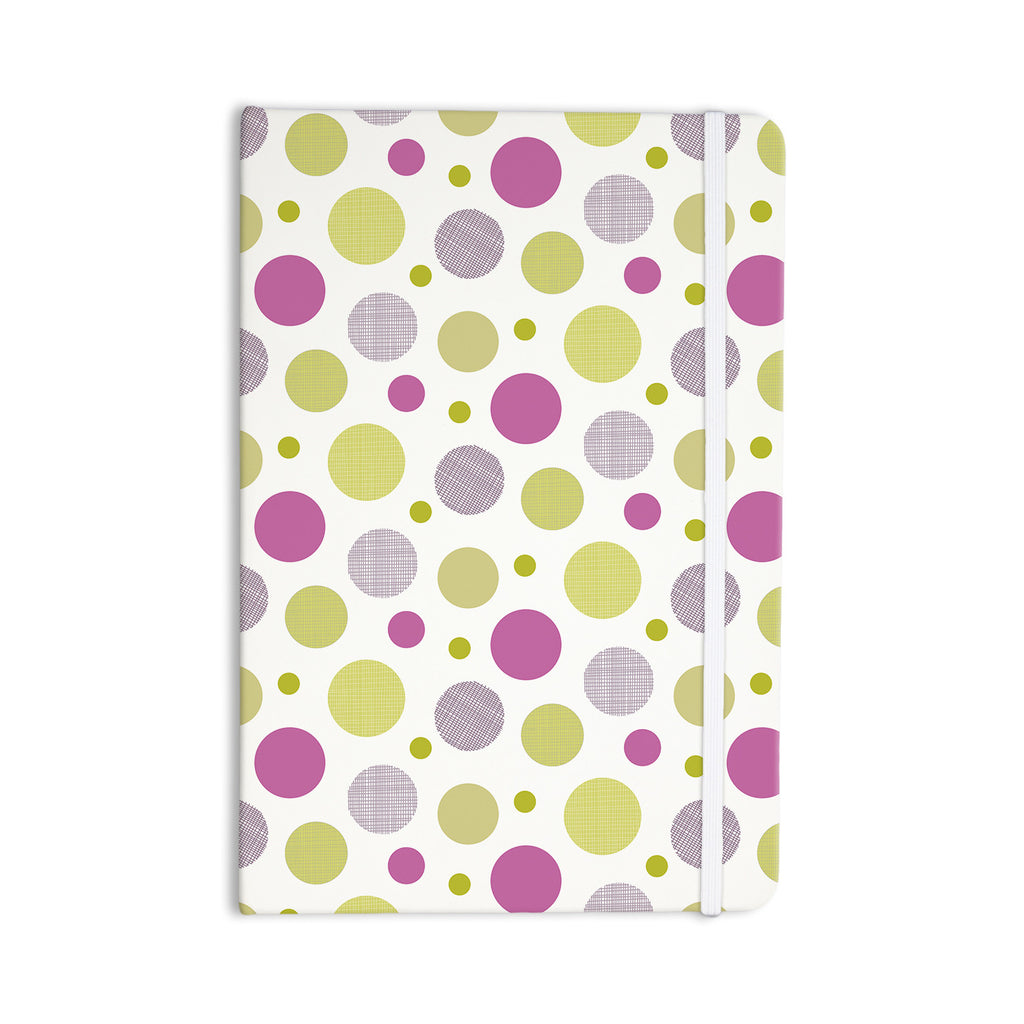 "Julie Hamilton ""Rhapsody Dot"" Pink Yellow Everything Notebook - KESS InHouse  - 1"