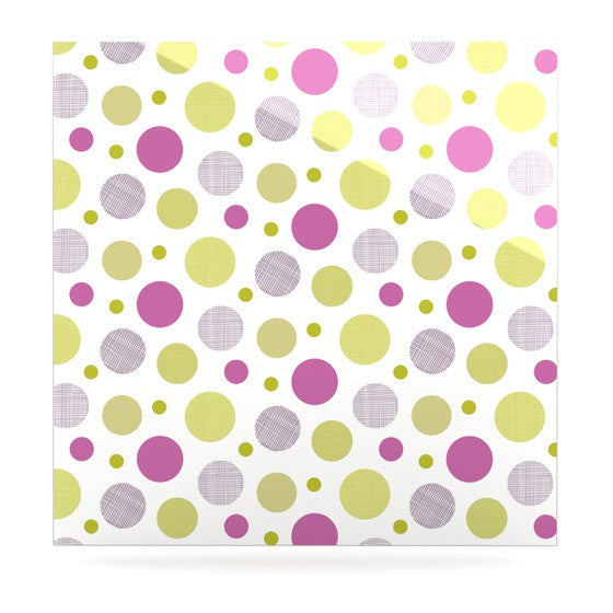 "Julie Hamilton ""Rhapsody Dot"" Pink Yellow Luxe Square Panel - KESS InHouse  - 1"