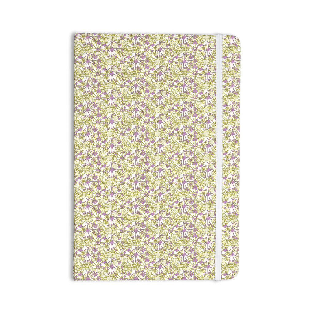 "Julie Hamilton ""Rhapsody Vine"" Yellow Purple Everything Notebook - KESS InHouse  - 1"