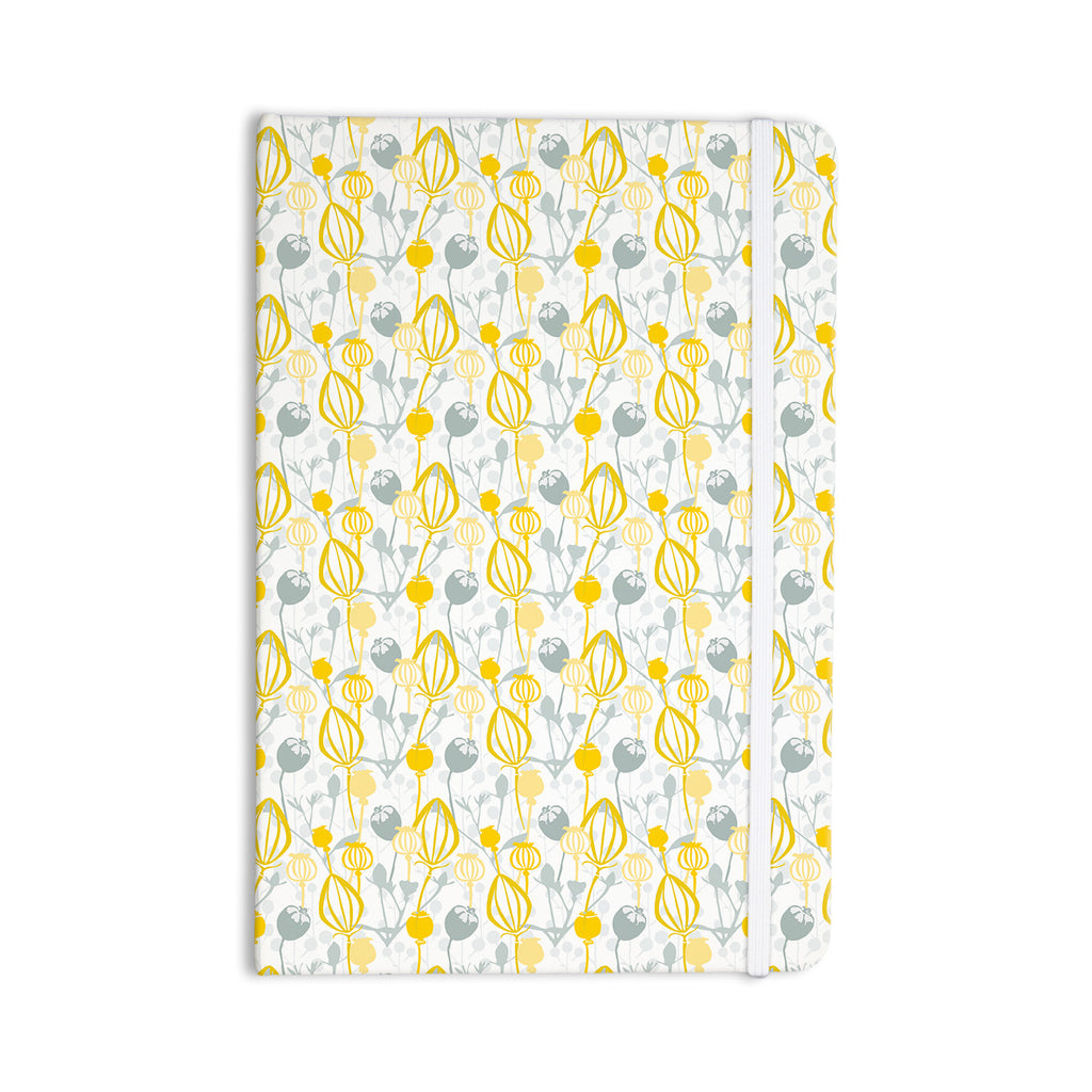 "Julie Hamilton ""Willow Wisp"" Yellow Gray Everything Notebook - KESS InHouse  - 1"
