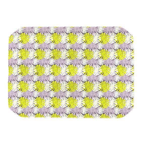 "Julie Hamilton ""Zinnia"" Yellow Purple Place Mat - KESS InHouse"