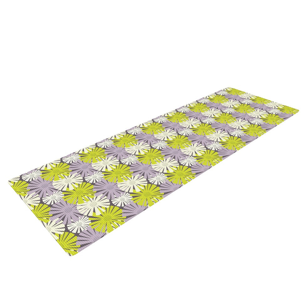 "Julie Hamilton ""Zinnia"" Yellow Purple Yoga Mat - KESS InHouse  - 1"