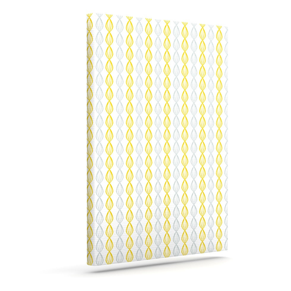 "Julie Hamilton ""Lemon Pod"" Yellow Gray Outdoor Canvas Wall Art - KESS InHouse  - 1"