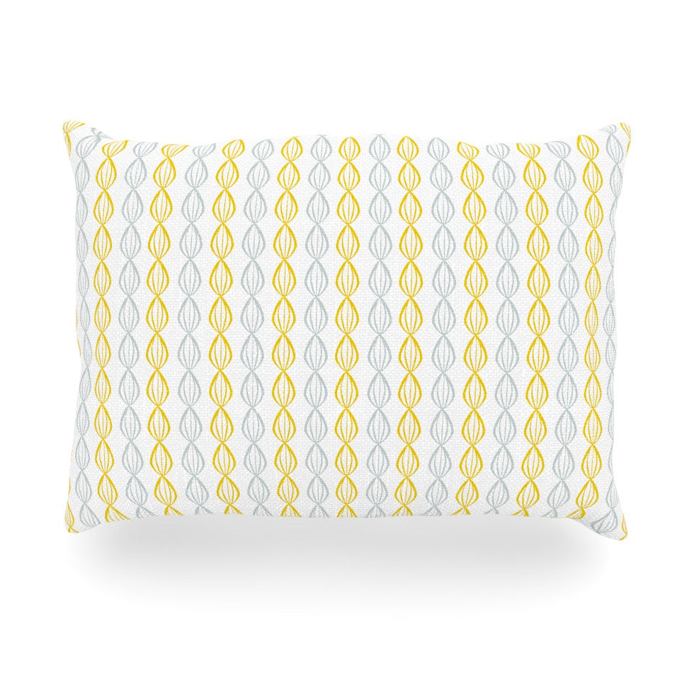 "Julie Hamilton ""Lemon Pod"" Yellow Gray Oblong Pillow - KESS InHouse"