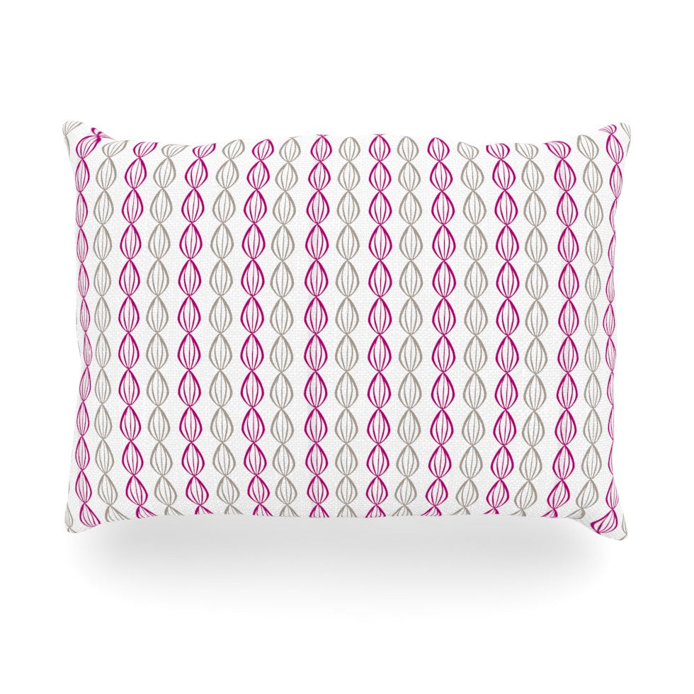 "Julie Hamilton ""Plum Pod"" Purple Gray Oblong Pillow - KESS InHouse"