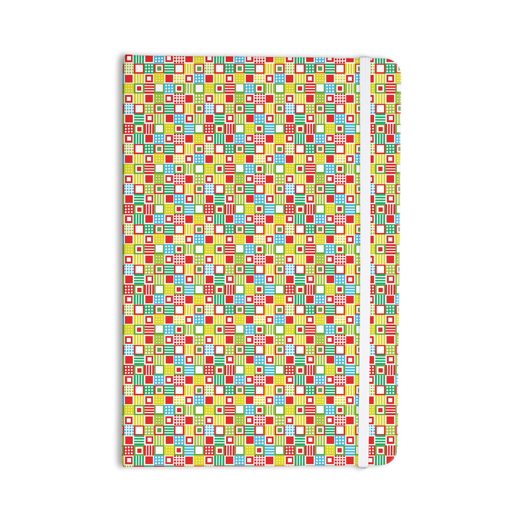 "Julie Hamilton ""Colorful Check"" Checkered Everything Notebook - KESS InHouse  - 1"