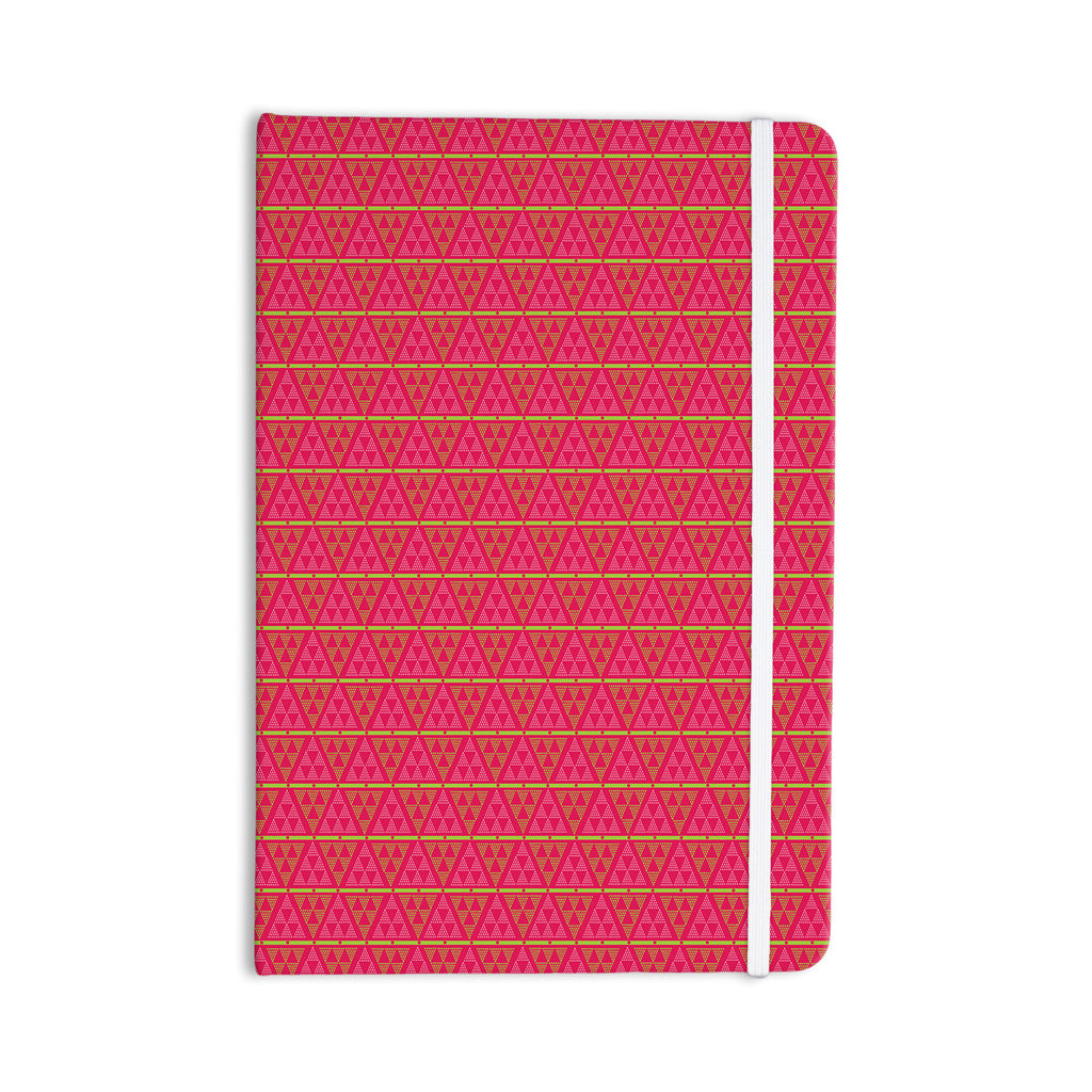 "Julie Hamilton ""Woven Red"" Pink Everything Notebook - KESS InHouse  - 1"
