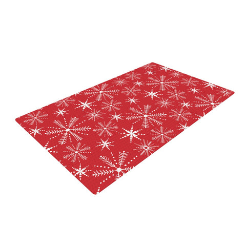 "Julie Hamilton ""Snowflake Berry"" Holiday Woven Area Rug - Outlet Item"
