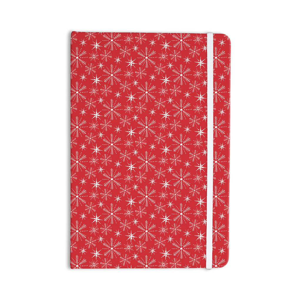 "Julie Hamilton ""Snowflake Berry"" Holiday Everything Notebook - KESS InHouse  - 1"